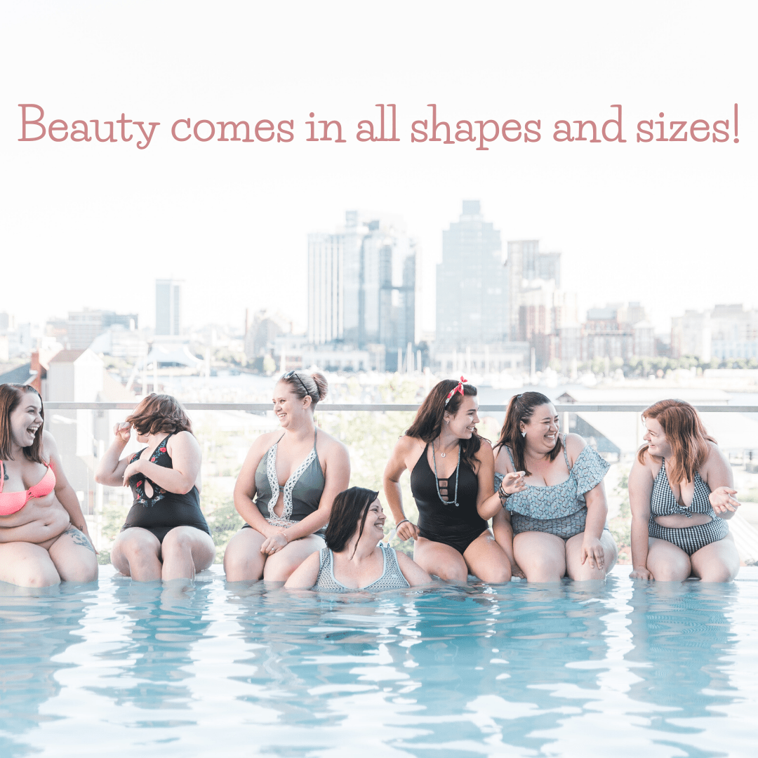 Beautiful women in swimsuits. Beauty comes in all shapes and sizes